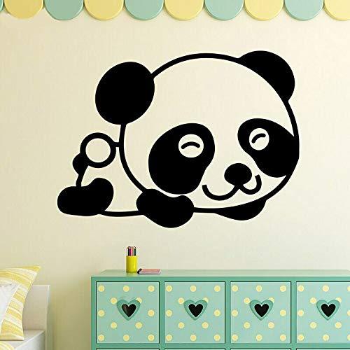 YuanMinglu Cute Smile Cartoon Panda Pegatinas de Pared para habitación de niños calcomanías de Pared de Vinilo Dormitorio Sala de Estar guardería decoración de la Pared Pegatinas 36X50.4 CM