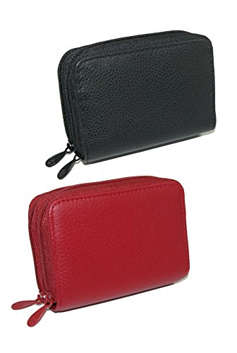 Buxton Women's Leather Mini Accordion Wizard Wallet (Pack of 2), Red Black Buxton Mini Mini Bag