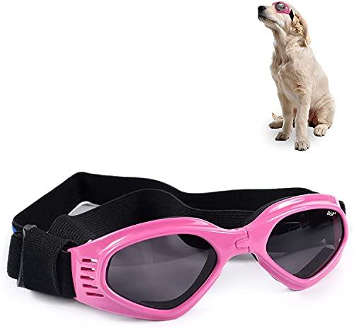 Funmo Occhiali Per Cani, Occhiali Da Compagnia Anti-uv, Cinturino Regolabile Per Specchietto, Occhiali Per Cani Antivento E Impermeabili, Adatti Per Cani Di Piccola E Media Taglia