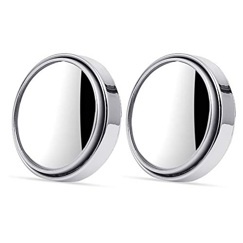 AILOS Espejos de Punto Ciego Coches Espejo de Punto Ciego Giratorio,2pcs / Set Espejo Punto Ciego Coche Espejo, Circular Ajustable de 360 Grados para estacionamiento Espejo retrovisor