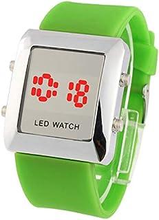 Songlin@yuan  Fashion Digital LED Quartz Watch, Both Men and Women Fashion (Color : Green)
