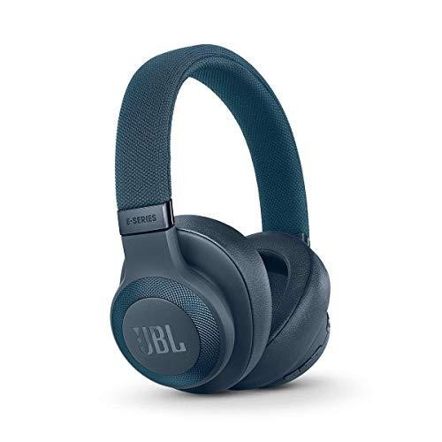 JBL E65BTNC Over Ear Bluetooth Kopfhörer - Active Noise Cancelling Headphones mit JBL Signature Sound - Musikgenuss für bis zu 24 Stunden Blau