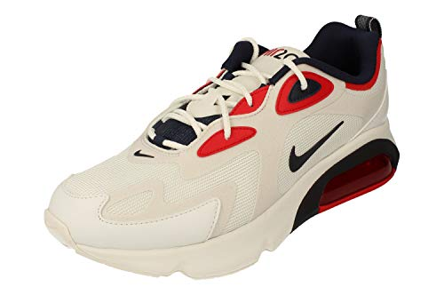 Nike Air Max 200 Hommes Running Trainers CT1262 Sneakers Chaussures (UK 7.5 US 8.5 EU 42, Football Grey Laser Blue 001)