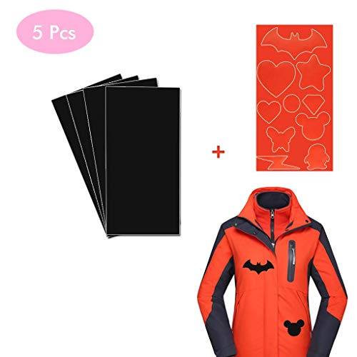 4PCS Fabric Repair Self-Adhesive Patches, Kicpot Premium Permanent Self Adhesive Washable and Waterproof Patches for Down Jackets,Tent Clothes,Sleeping Bag (Black)