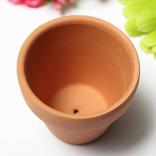 Kungfu Mall Red ceramica terracotta Flower pot argilla per piccoli impianti argilla fioriera