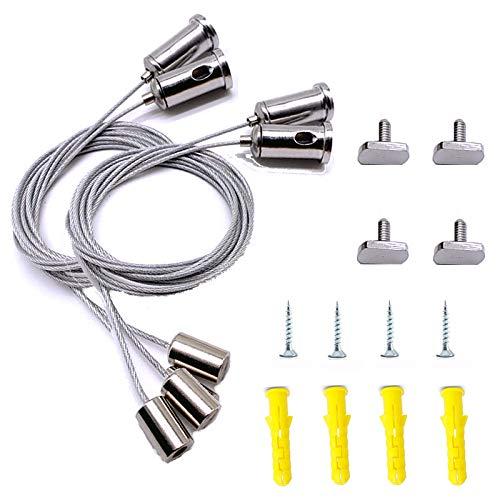 Qiwenr 4Pcs Juego de Cable de Suspensión de Acero Inoxidable,Kit de Luces...