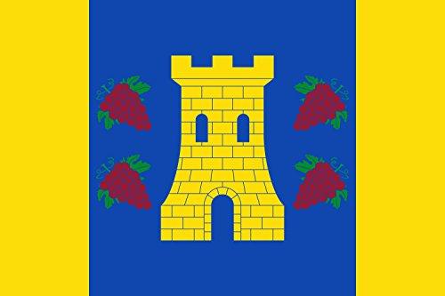 magFlags Bandera Large Paño Rectangular de Proporciones 2/3, de Color Azul | Bandera Paisaje | 1.35m² | 90x150cm