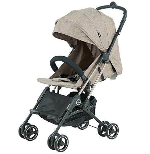 Roma Capsule² Compact Airplane Travel Buggy from Newborn Only 5.6 kgs + Rain Cover, Insect Net and Travel Bag - Tweed with a Rose Gold Chassis