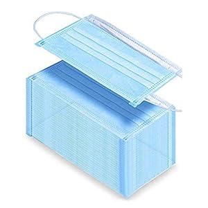 10Pcs Clean Disposable Face Mask 3 Soft Layers in Each Mask Breathable Comfortable Disposable Mask 50pcs/30pcs/10pcs Blue