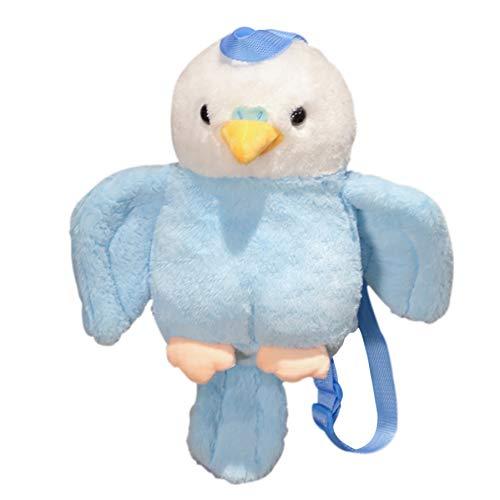Papegaai Tas Zachte Vogel Knuffel, Schattige Rugzak Kinderen Pop, Verjaardagscadeau Voor Meisje Kinderen, Mooie Schooltas 40Cm (Blauw)