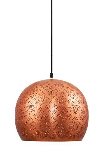 MAADES Orientalische Lampe Pendelleuchte Rayhana 30cm Kupfer E27 Lampenfassung   Marokkanische Design Hängeleuchte Leuchte   Orient Lampen für Wohnzimmer, Küche oder Hängend über den Esstisch