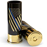 12 Gauge Shot Glasses Set of 4 - Thin Blue Line Police Flag