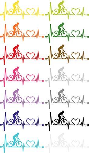 Hartlijnsticker mountainbike