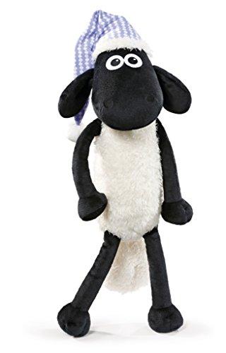 NICI 41466 Shaun das Schaf Kuscheltier mit Schlafmütze, 50 cm, Farbe: Weiß/Schwarz
