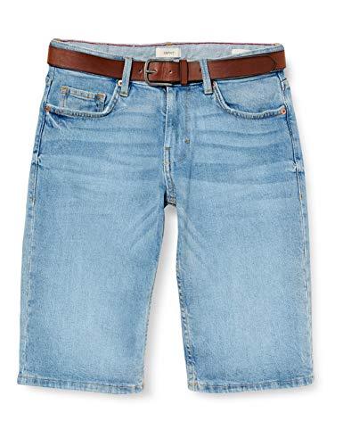 Esprit 040ee2c357 Pantalones Cortos de Jean, 903/Blue Light Wash, 32 para Hombre