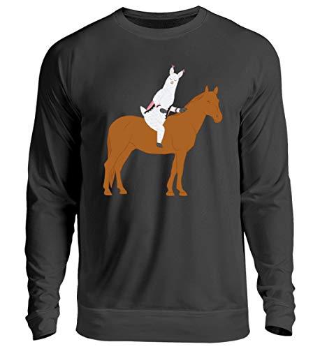 Chorchester Ideal para los amantes de los caballos y alpaca – Jersey unisex Negro Jet L