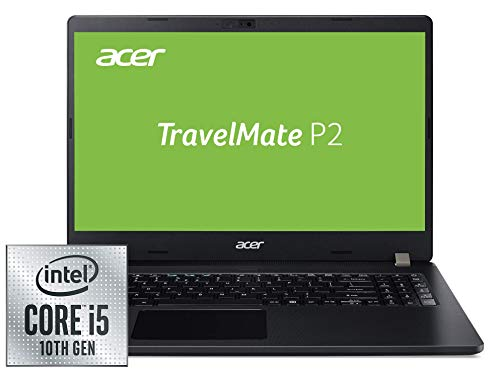 Acer TravelMate P2 (TMP215-52-59AJ) 39,6 cm (15,6 Zoll Full-HD IPS matt) Business-Laptop (Intel Core i5-10210U, 8 GB DDR4 RAM, 256 GB PCIe SSD, Intel UHD, Win 10 Pro) schwarz