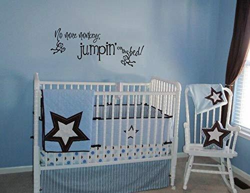 Autocollant mural en vinyle pour chambre d'enfant No More Monkeys Jumpin' On The Bed