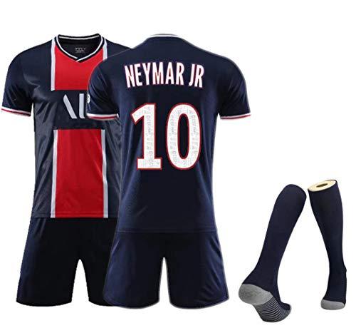 Fußballtrikots für Kinder und Erwachsene Herren, Neymar 10 Mbappé 7 Fan Jersey, Geeignet für die Saison 20-21 Fußballtrainingsanzüge für Erwachsene, Fußballshorts Westenset Football Socken-Roy