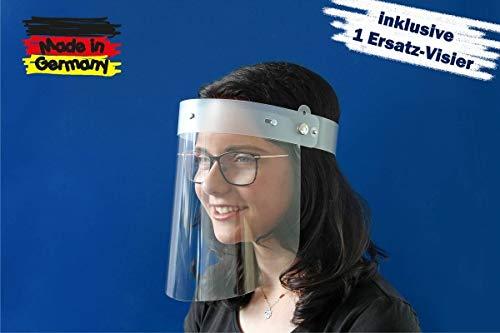 Kranholdt Gesichtsschutz Face Shield Behelfsgesichtsschutz Premium aus Kunststoff universelle Passform