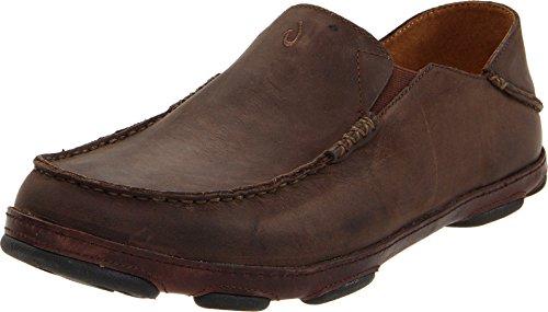 OLUKAI Men's Moloa Dark Wood/Dark Java Loafers 9.5 M US