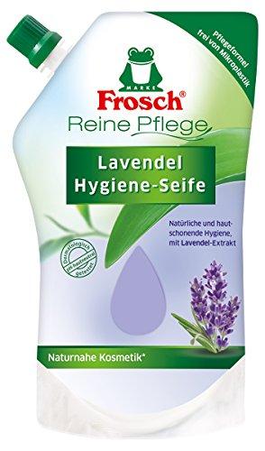 Frosch Reine Pflege Lavendel Hygiene-Seife - Flüssigseife im Nachfüllbeutel, 1er Pack (1 x 500 ml)