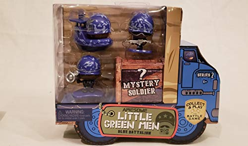 Awesome Little Green Men 4 pc Starter Pack Series 2- Blue Battalion Action Figure