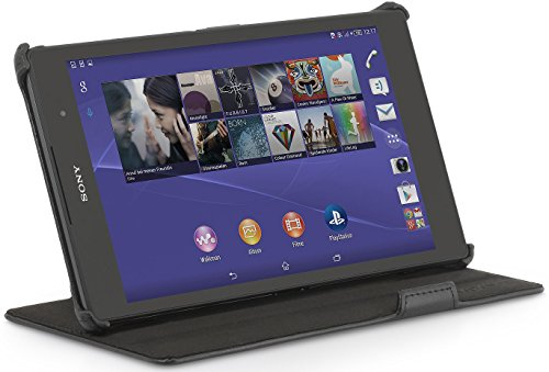 StilGut UltraSlim, Tasche mit Standfunktion kompatibel mit Sony Xperia Z3 Tablet Compact, schwarz B-Ware