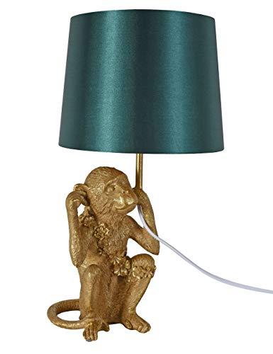 Tischlampe Affe Gold Smaragd Tischleuchte Monkey Nachttischlampe Leuchte cw235 Palazzo Exklusiv