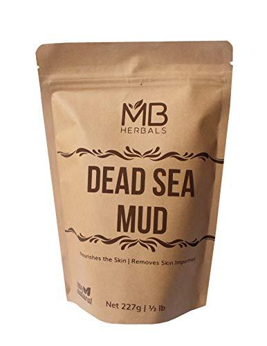 MB Herbals Dead Sea Mud 227 Gram   Half Pound   Nourishes Exfoliates Softens & Detoxify the Skin  ...