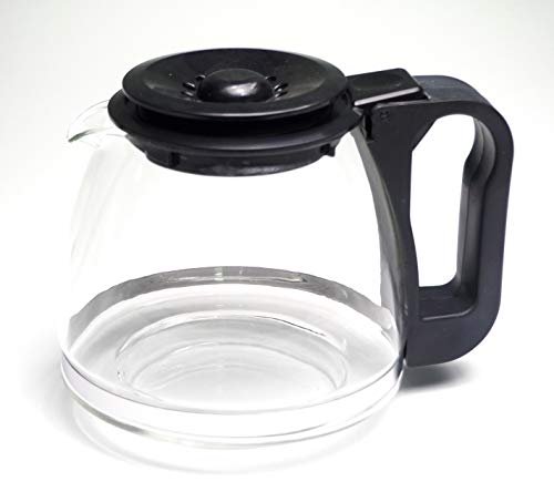 Sanfor Jarra universal de vidrio para cafetera eléctrica | Antigoteo | Forma Abombada | Pequeña | Color transparente