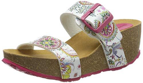 Desigual Damen Shoes (BIO8_Galactic) Slingback Sandalen, Weiß (Blanco 1000), 36 EU