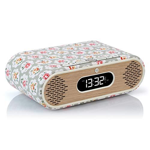 VQ Rosie-Lee DAB / DAB+ Digital & FM Radiowecker & Bluetooth-Lautsprecher – Cath Kidston Provence Rose