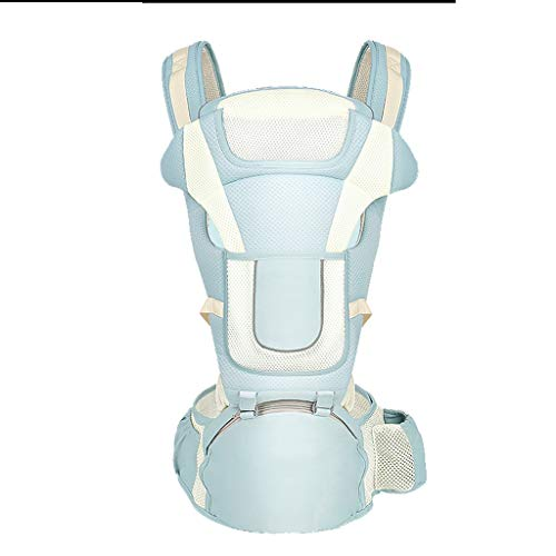 MRULIC Porte-b/éb/é Ventral L/éger Tabouret B/éb/é Respirant avec Si/ège de Hanche Multi Positions Confortable pour B/éb/és de Porte-b/éb/é Baby Carrier