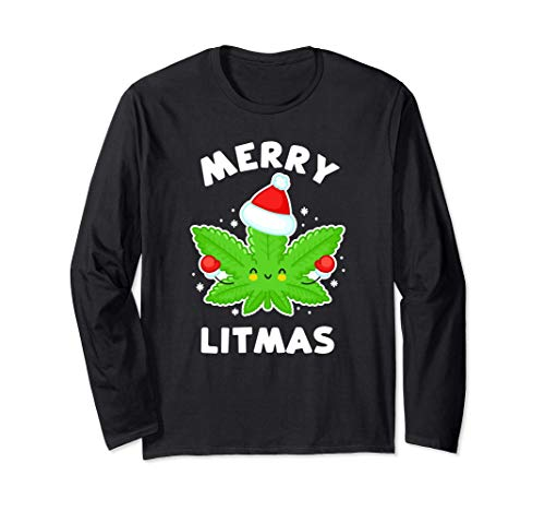 Merry Litmas - Divertente pentola natalizia Maglia a Manica