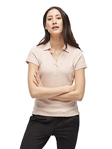 TOM TAILOR Damen Essential solid Polo T-Shirt, Rosa (Evening Rose 4676), Large