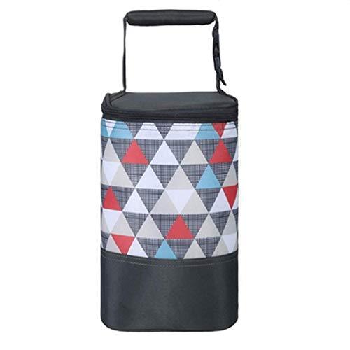 Alumuk Isoliertasche für Babyflaschen - Baby Flaschen Wärmer oder Kühltasche - Thermotasche für Muttermilch & Babynahrung - Faltbare Isotasche zum Einkaufen, Camping oder als Picknicktasche (Dreieck)