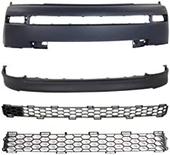 Bumper Cover Kit Compatible with SCION XB 2004-2006 Front Set of 4 Valance Bumper Cover and Bumper Grille