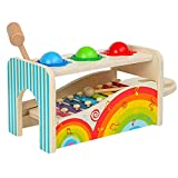 Backbayia Xilófono corredero educativo Montessori Juguete regalo de cumpleaños