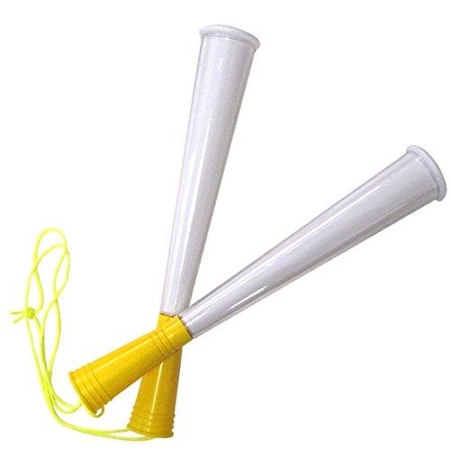 [プロモ] クリア ツイン メガホン (黄色) 自作可能 [サッカー スポーツ 応援 グッズ ] 体育祭 イベント