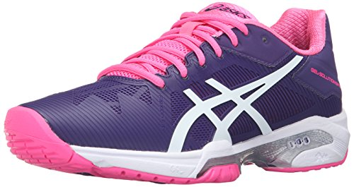 ASICS Women'S Gel-Solution Speed 3 Tennis Shoe, Parachute Purple/White/Hot Pink, 6 M US