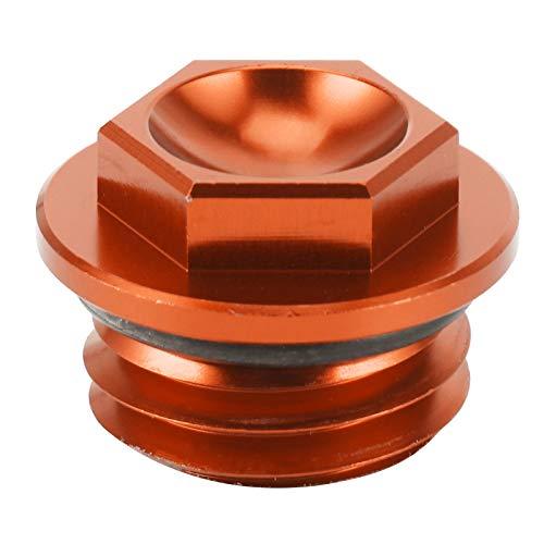 RBSD Tapón de llenado de Aceite, reemplazo de la Cubierta del Tanque de Aceite de Aluminio 6061 T6 para Husaberg TE 125‑300 2011‑2014 para Husqvarna TC 85 2014‑2015(Orange)