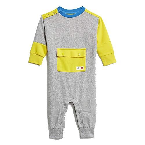 adidas Lego Duplo - Mono mediano gris Heather / Yellow / Bright Blue 9-12 M