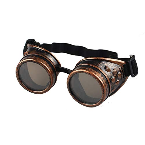 Macabolo Unisex Vintage Metal Steampunk Gothic stijl Bril winddichte zonnebril lassen Labor veiligheidsbril 5.5cm A