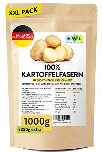 Kartoffelfasern 1000g + 250g extra XXL...