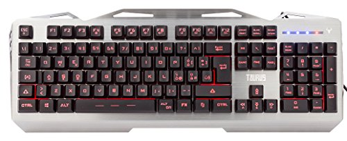 ITEK Tastiera Gaming TAURUS T17 - Retroilluminata 3 colori, multimediale, anti-ghosting, cover e struttura in metallo