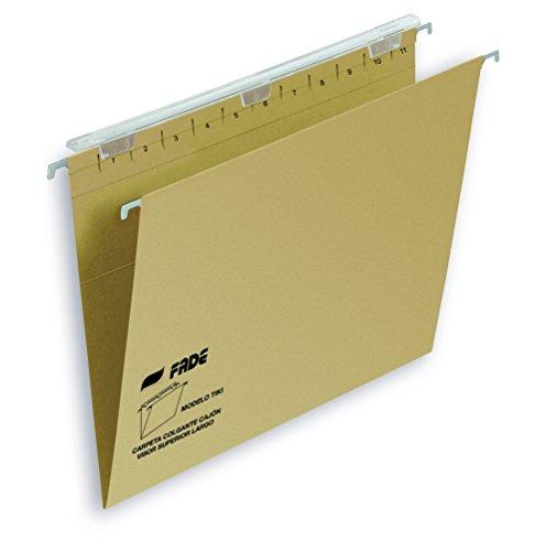 Elba Tiki - Caja de 25 carpetas colgantes para cajón, A4