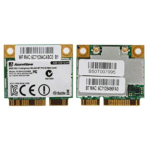 zkm111 - Tarjeta de red para ordenador portátil BCM94352HMB AW-CE123H 802.11ac 867 Mbps 2.4/5G Bluetooth 4.0 WiFi tarjeta inalámbrica