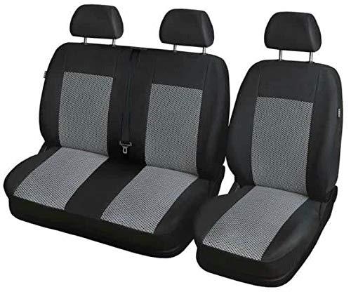 Set di coprisedili anteriori specifico per furgoni a 3 posti