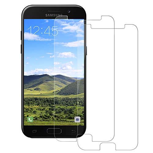 Snnisttek Panzerglas Schutzfolie für Galaxy A5 2017 -[2 Stück] Panzerglasfolie Galaxy A5 2017-9H Härte Displayschutzfolie, Ultra Kristallklar 99% Transparenz-Schutz vor Kratzen, Öl, Bläschen